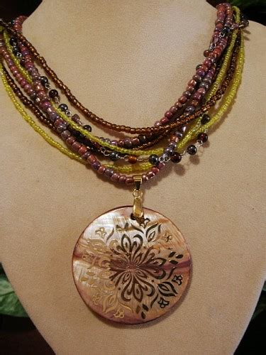 Acc548 Necklace Colorfull Big colorful indian inspired layered pendant necklace gogemcreations jewelry on artfire