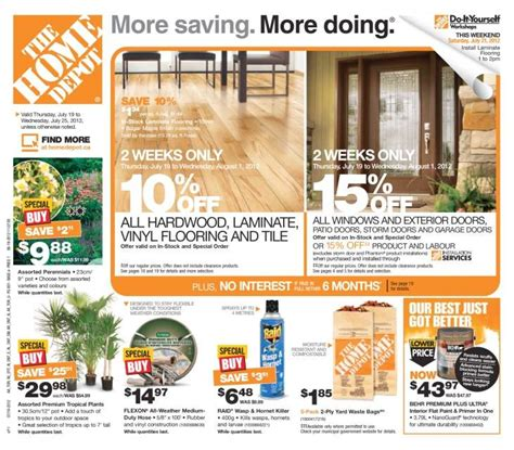 home depot flyer jul 19 to 25