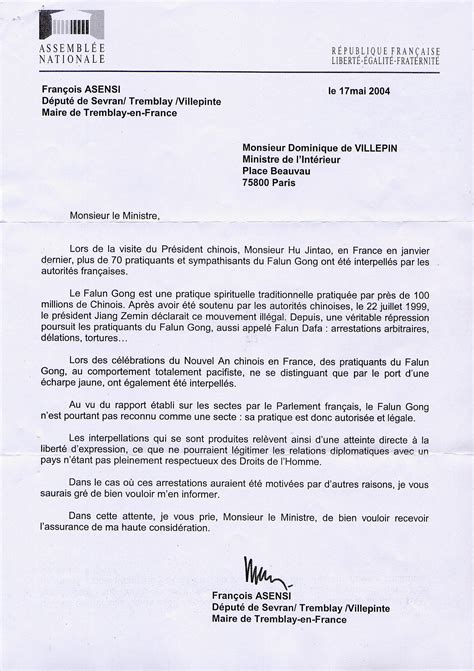 carta formal em italiano carta de un diputado franc 233 s al ministro de asuntos interiores