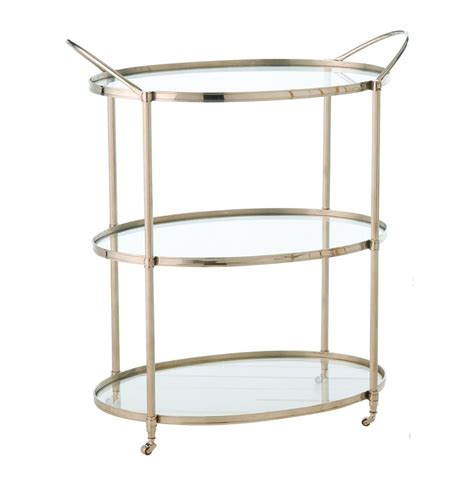 modern bar cart connaught polished nickel oval modern bar serving cart kathy kuo home