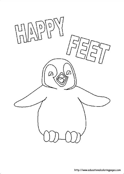 educational coloring pages for kindergarten happy feet coloring pages educational fun kids coloring