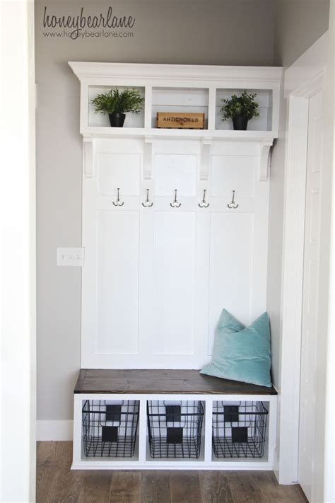 small mudroom bench diy mudroom bench part 2 honeybear lane