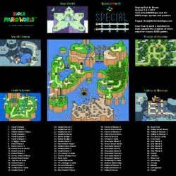 Super Mario World Complete Map by Super Mario World Overworld Super Nintendo Snes Map