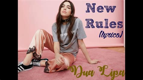 dua lipa new love lyrics dua lipa new rules official music video youtube