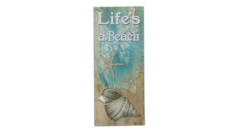 beach home decor wholesale buy wooden lifes a beach starfish sign 19 inch wholesale