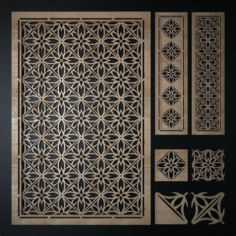 design pattern model 3d model decorative laser cutting pattern