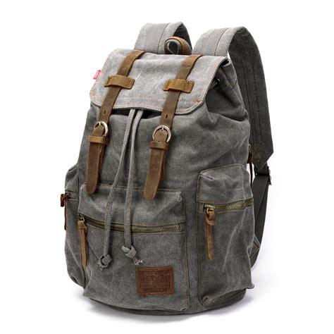 canvas duffle backpack mens canvas backpack large rucksack school bag travel