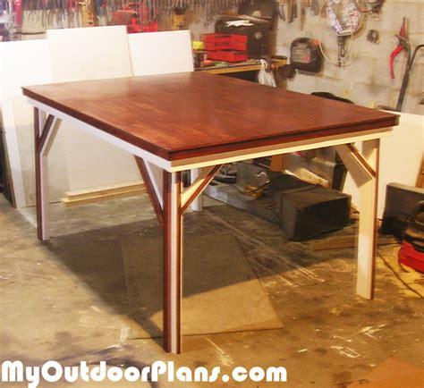 diy  game table myoutdoorplans  woodworking