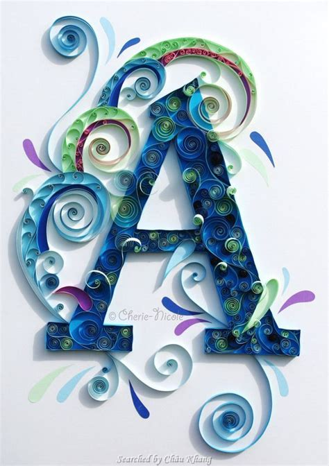 How To Make Paper Quilling Letters - 365 best images about quilling monogram name letter on