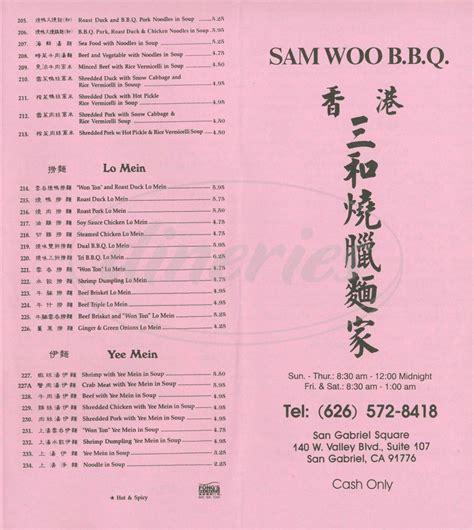 san gabriel valley restaurants restaurant menus website sam woo bbq menu san gabriel dineries