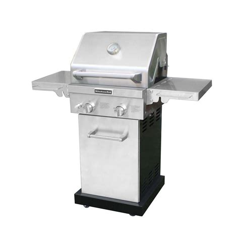 home depot grills kitchenaid 2 burner propane gas grill in stainless steel