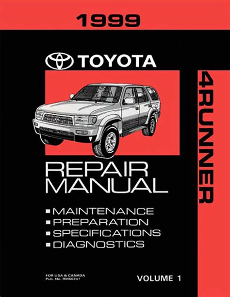 1999 toyota 4runner oem repair manual rm663u