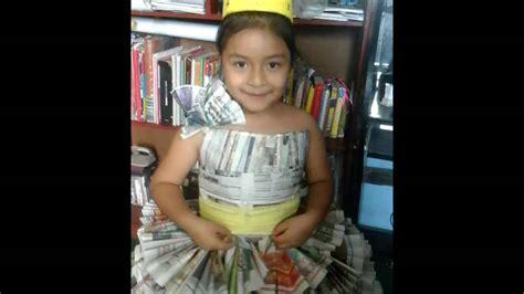 vestido manualidades de papel periodico como hacer un vestido de papel periodico reciclado youtube