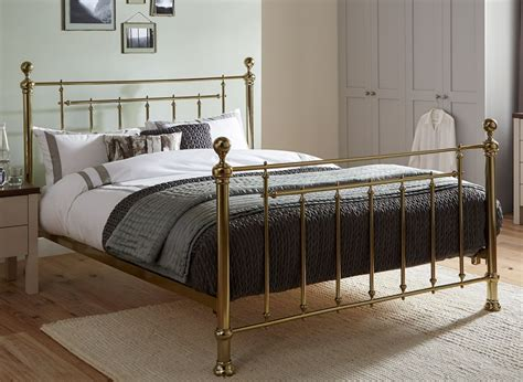 metal frame bed jackson chagne gold metal bed frame dreams