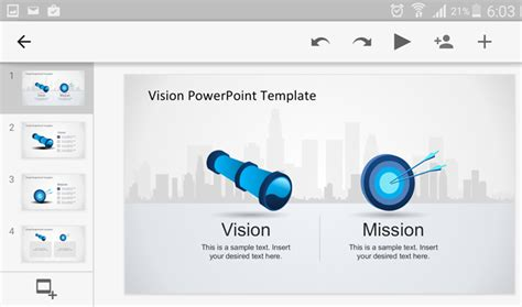 template powerpoint android how to open a powerpoint presentation on android