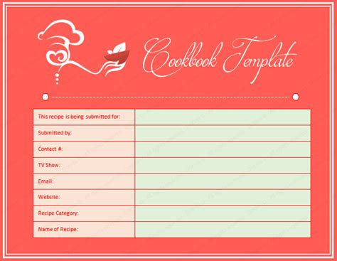 templates for cookbooks cookbook word template dotxes