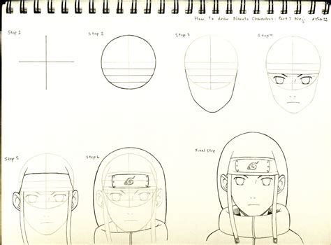 how to draw naruto how to draw naruto characters part 1 neji by
