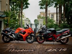 2008 zx 14 vs suzuki hayabusa motorcycle usa