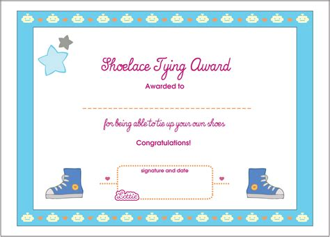 excel blank certificate for kids templates printable first prize