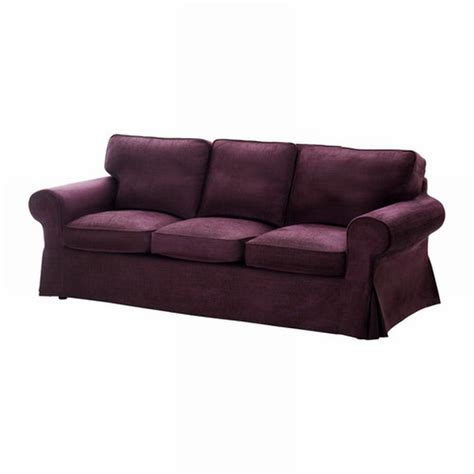 Ikea Ektorp 3 Seat Sofa Cover Slipcover Tullinge Lilac Covers For Ikea Ektorp Sofa