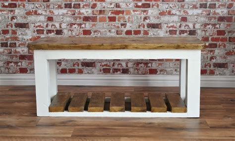 bench stores uk rustic shoe storage hall bench made from reclaimed wood