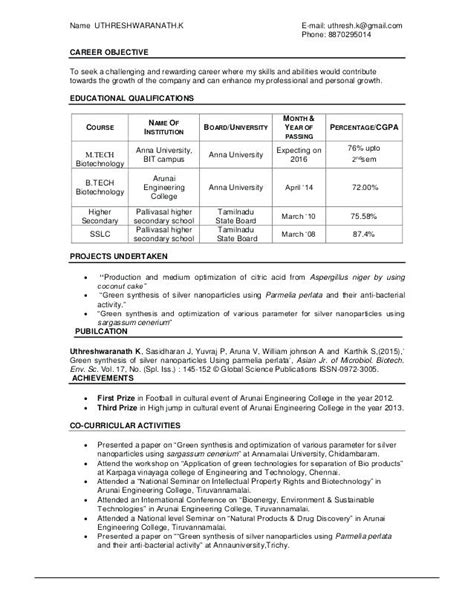 Cover Letter For Msc Biotechnology by Cover Letter For Msc Biotechnology Cover Letter For