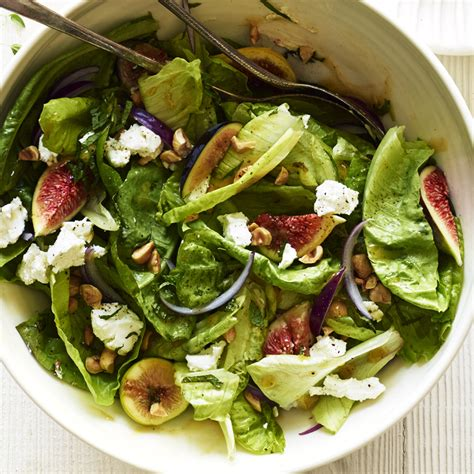 dinner salad recipes fig hazelnut and goat cheese salad recipe myrecipes