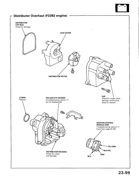 1997 honda civic distributor diagram wiring diagrams