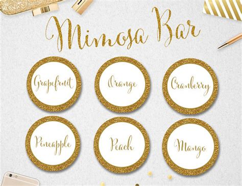 printable juice labels printable mimosa bar juice labels instant download
