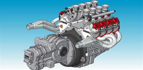 3d ls ls1 race engine 3d cad model grabcad