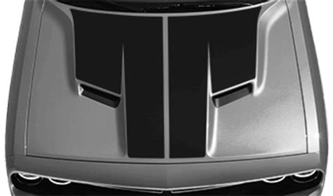 dodge challenger main hood decal : vinyl decal graphic