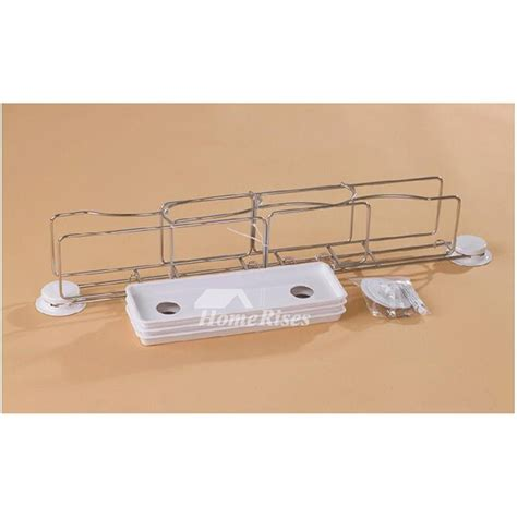bathroom shelves stainless steel suction cup three layer type white bathroom shelves