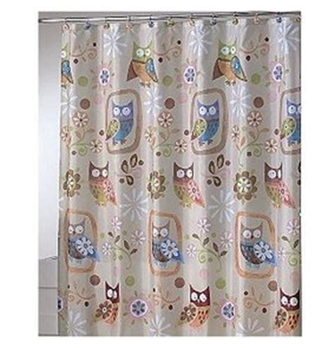 adorable owl shower curtain home kitchen