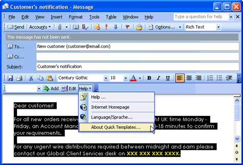 word email template ssw microsoft outlook suggestions