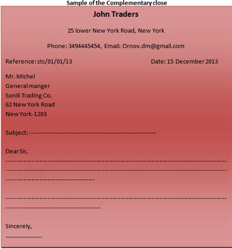 Different Parts Of Business Letter And Definition different parts of a business letter