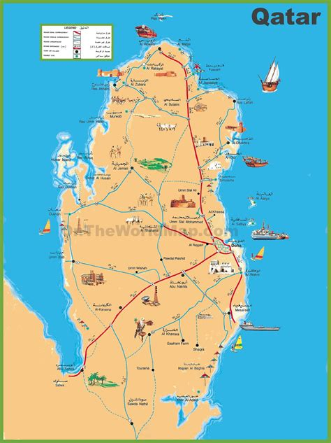 the map in qatar world map