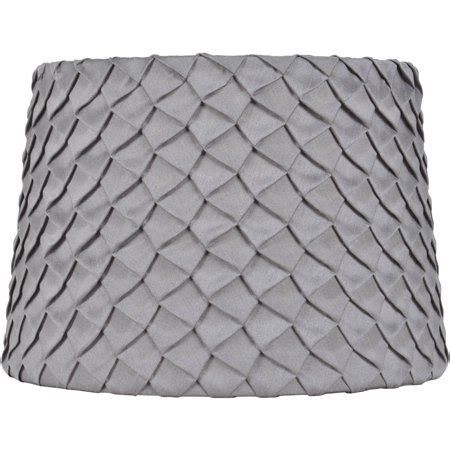 better homes and gardens l shades better homes and gardens gray pleated round hardback shade