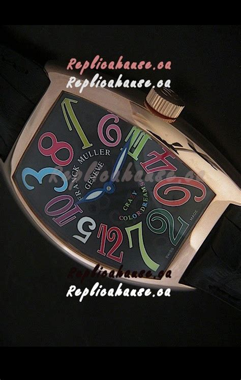 Franck Muller Color Dreams Rosegold Purple Leather franck muller color dreams japanese replica in