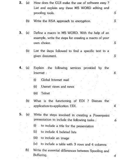 bca question paper ignou ignou bca semester i question papers 2018 2019 studychacha