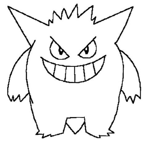 pokemon coloring pages of gastly gengar pokemon coloring pages