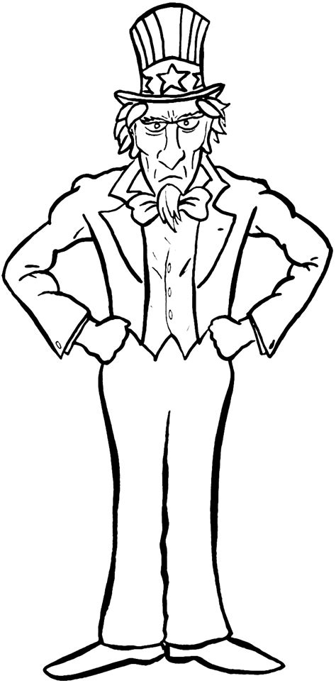 coloring pages for uncle uncle sam coloring sheet by idoenjoyarting on deviantart