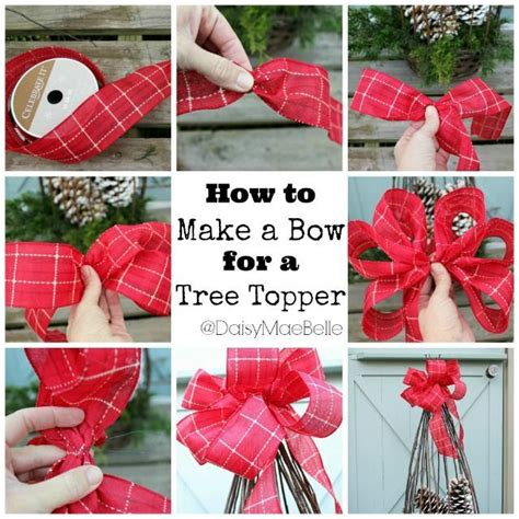 how to tie ribbon around a christmas tree diy tree topper bow pictures photos and images for and