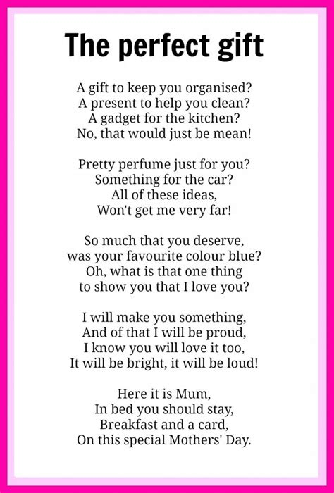 a poem for day mothers day poems kidspot