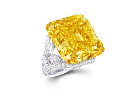52.73ct Fancy Vivid Yellow Emerald Cut Ring   Graff Diamonds