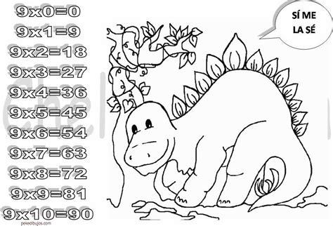 imagenes para colorear tablas de multiplicar dibujos de las tablas de multiplicar para colorear