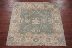 Square Area Rugs 7x7 Oushak 7x7 Veg Dye Square Knotted Antiqued Wool Turkish Area Rug Ebay