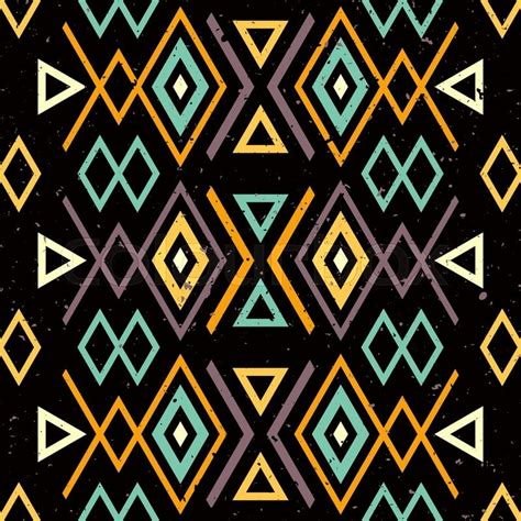 africa vector traditional background pattern ethnic tribal seamless background with grunge effect