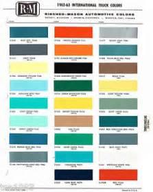 1962 1963 international truck color chip paint sample
