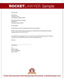 Resignation Letter As Director by Sle Resignation Of Director