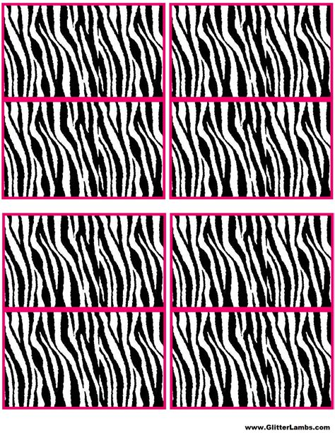 The Gallery For Gt Zebra Border Template Zebra Label Templates